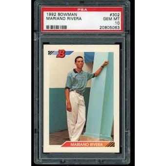 1992 Bowman Mariano Rivera PSA 10 card #302