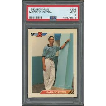 1992 Bowman Mariano Rivera PSA 9 card #302