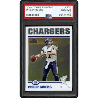 2004 Topps Chrome Phillip Rivers PSA 10 card #230