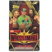 2019 Topps WWE Road to Wrestlemania Wrestling Hobby Box