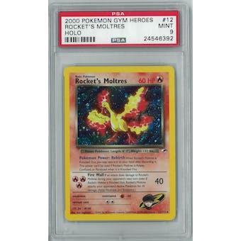Pokemon Gym Heroes Rocket's Moltres 12/132 PSA 9