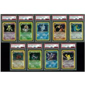 Pokemon Team Rocket Unlimited LOT Complete Set of All 18 Holos - ALL PSA Graded 9 MINT!
