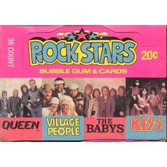 Rock Stars Wax Box (1979 Donruss)