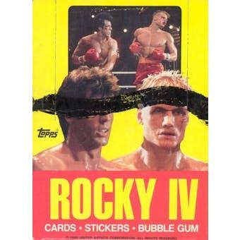 Rocky IV Wax Box (1985 Topps)