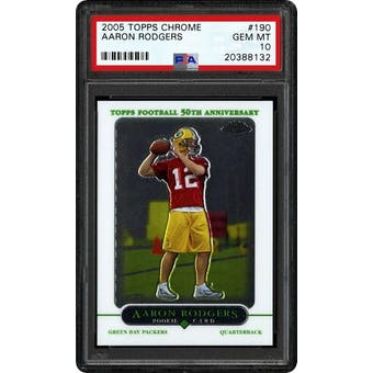 2005 Topps Chrome Aaron Rodgers PSA 10 card #190