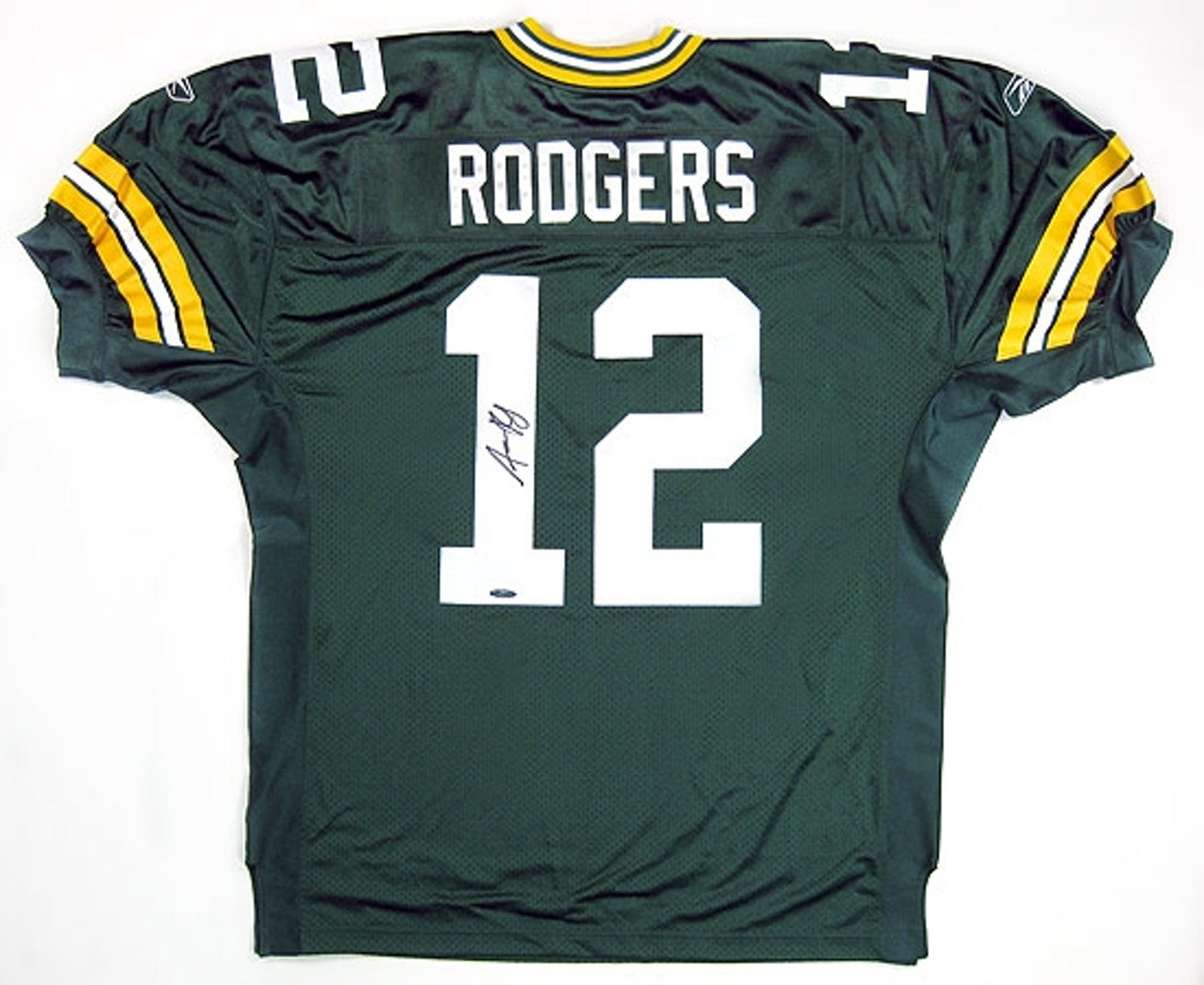 ab0082272 Aaron Rodgers Autographed Green Bay Packers Authentic Green ...