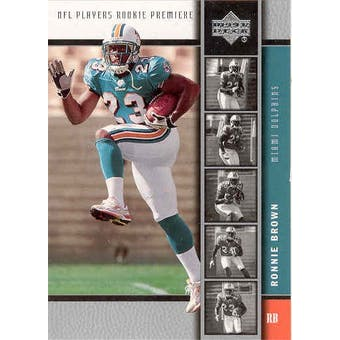 2005 Upper Deck Football Ronnie Brown 10 Card RC Lot