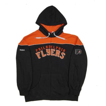 Philadelphia Flyers Reebok Black Score Full Zip Fleece Hoodie (Adult XL)