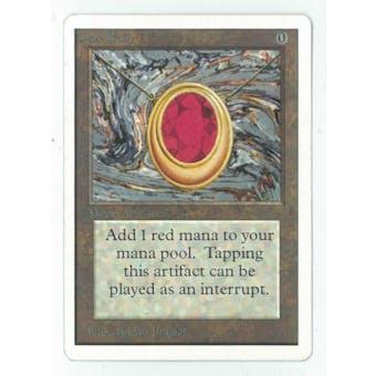 Magic the Gathering Unlimited Single Mox Ruby - NEAR MINT/SLIGHT PLAY (NM/SP)