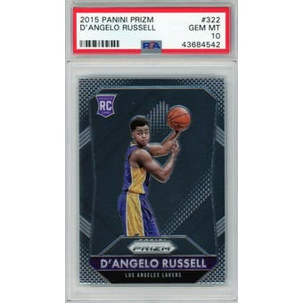 2015/16 Panini Prizm D'Angelo Russell PSA 10 card #322
