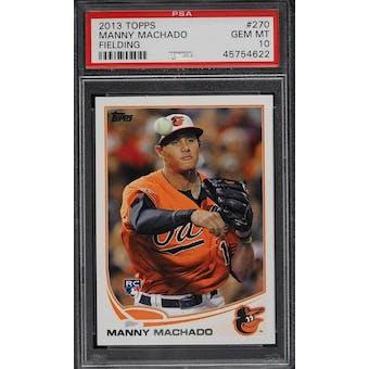 2013 Topps Manny Machado PSA 10 card #270
