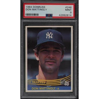 1984 Donruss Don Mattingly PSA 9 card #248