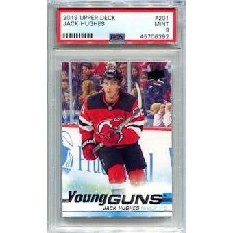 2019/20 Upper Deck Young Gun Jack Hughes PSA 9 card #201