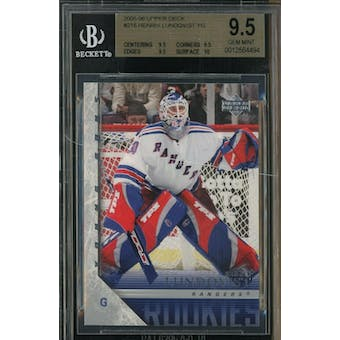 2005/06 Upper Deck Young Gun Henrik Lundqvist BGS 9.5 card #216