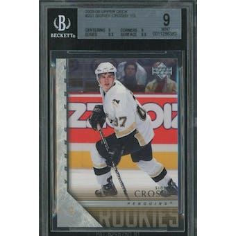 2005/06 Upper Deck Young Gun Sidney Crosby BGS 9 card #201