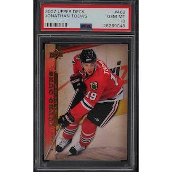 2007/08 Upper Deck Young Gun Jonathan Toews PSA 10 card #462