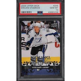 2008/09 Upper Deck Young Gun Steven Stamkos PSA 10 card #245