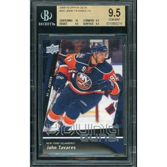 2009/10 Upper Deck Young Gun John Tavares BGS 9.5 card #201
