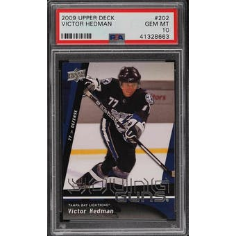 2009/10 Upper Deck Young Gun Victor Hedman PSA 10 card #202