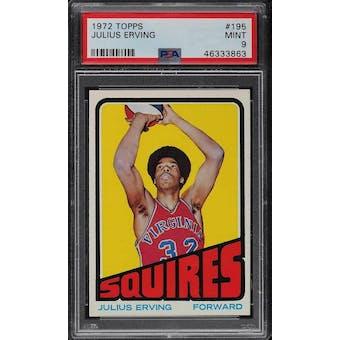 1972/73 Topps Julius Erving PSA 9 card #195