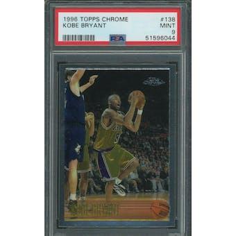1996/97 Topps Chrome Kobe Bryant PSA 9 card #138