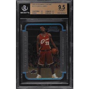 2003/04 Bowman Chrome Lebron James BGS 9.5 card #123