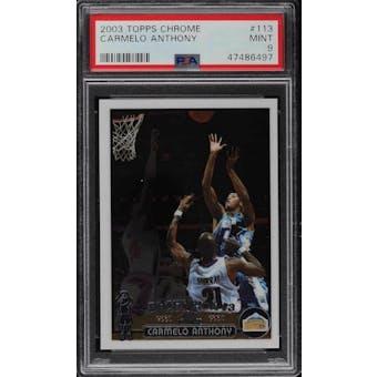2003/04 Topps Chrome Carmelo Anthony PSA 9 card #113