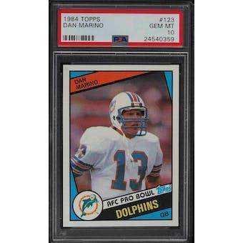 1984 Topps Dan Marino PSA 10 card #123