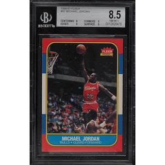 1986/87 Fleer Michael Jordan BGS 8.5 card #57