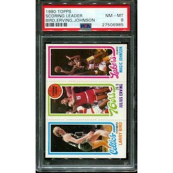1980/81 Topps Larry Bird/Magic PSA 8 card #