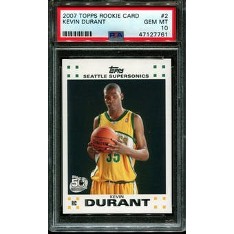 2007/08 Topps Kevin Durant PSA 10 card #2