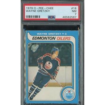 1979/80 O-Pee-Chee Wayne Gretzky PSA 7 card #18