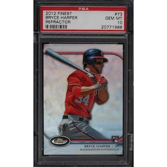 2012 Finest Bryce Harper Refractor #73 PSA 10 (Gem Mint)