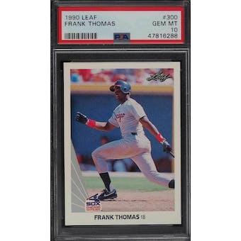 1990 Leaf Frank Thomas PSA 10 card #300