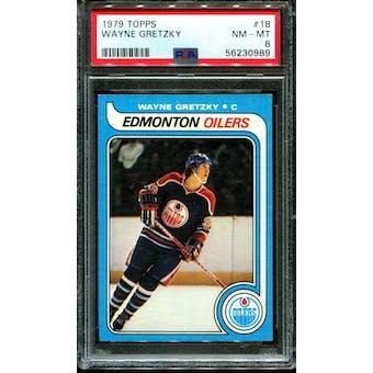 1979/80 Topps Wayne Gretzky PSA 8 card #18