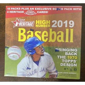 2019 Topps Heritage High Number Baseball Monster Box
