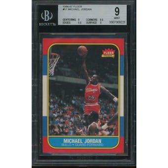 1986/87 Fleer Michael Jordan BGS 9 card #57