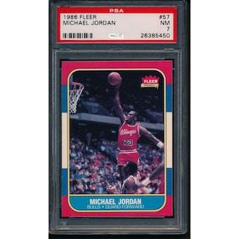 1986/87 Fleer Michael Jordan PSA 7 card #57