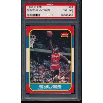 1986/87 Fleer Michael Jordan PSA 8 card #57