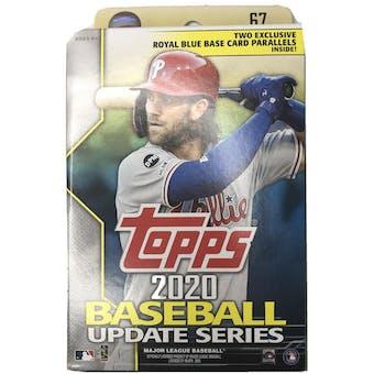 2020 Topps Update Series Baseball Hanger Box