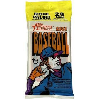 2021 Topps Heritage Baseball Jumbo Value Pack (20 Cards)