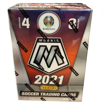 2020/21 Panini Mosaic UEFA Euro 2020 Soccer 8-Pack Blaster Box