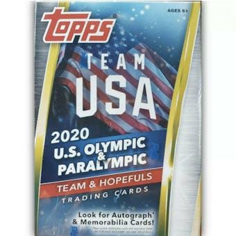 2021 Topps U.S. Olympic & Paralympic Team Hopefuls 5-Pack Blaster Box