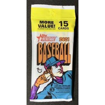 2021 Topps Heritage Baseball Jumbo Value Pack (15 Cards)