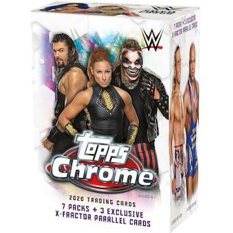 2020 Topps WWE Chrome Wrestling 7-Pack Blaster Box