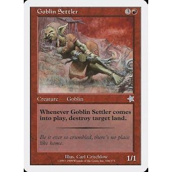 Magic the Gathering Starter 1999 Goblin Settler - SLIGHT PLAY (SP)