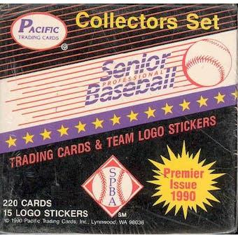 1990 Pacific Senior League Baseball Factory Set