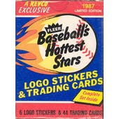 1987 Fleer Hottest Stars Baseball Factory Set (Tough Barry Bonds Card!)