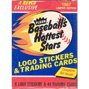 1987 Fleer Hottest Stars Baseball Factory Set (Tough Barry Bonds Card!)