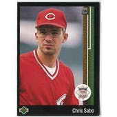 1989 Upper Deck Chris Sabo Cincinnati Reds Blank Back Black Border Proof